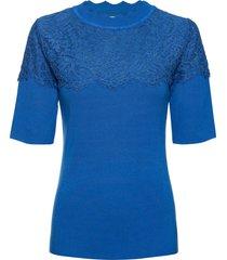 maglia a costine con pizzo (blu) - bodyflirt boutique