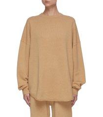 oversized crewneck cashmere sweater