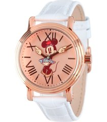 disney minnie mouse men's shiny rose gold vintage alloy watch