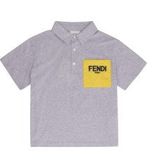 fendi chest-pocket cotton polo shirt