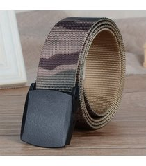 cinturón de hombres, cinturón de camuflaje de nylon-verde