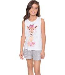 pijama infantil short doll girafa lua encantada
