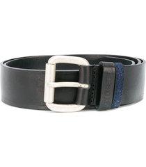 diesel denim-loop belt - black