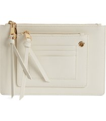 8 other reasons x jill jacobs saffiano leather zip pouch -