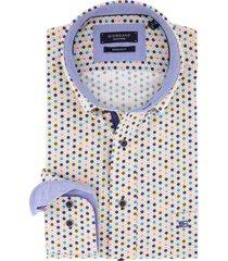 overhemd giordano regular fit gekleurd motief