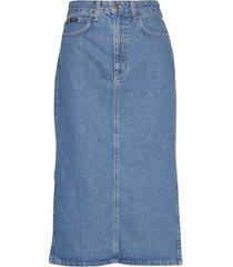thelma skirt knälång kjol blå lee jeans