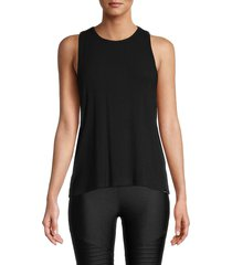 marc new york performance women's keyhole twist back active sleeveless top - black - size xl