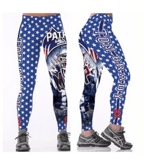 nfl new england patriots leggings - #12 tom brady mvp- women's fan gear
