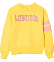 alberta ferretti yellow teen sweatshirt