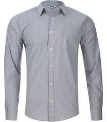 camisa lineas verticales color azul, talla xs