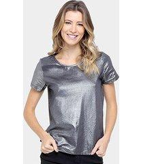 camiseta colcci metalizada feminina - feminino