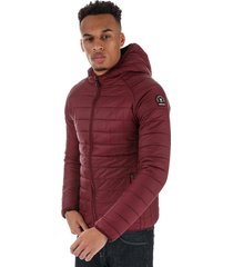 henleys mens carlyon hooded puffa jacket size 2xl in red