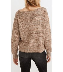women's madewell boat neck side button sweater, size xx-small - brown