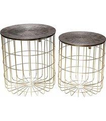 stolik 2 szt. rossa złoty/metaliczny