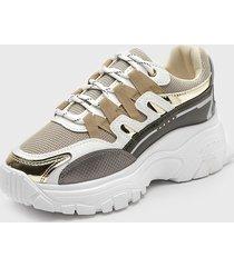 zapatilla urbana dorado stylo shoes