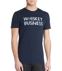 body rags clothing co men's whiskey business graphic tee - navy - size m