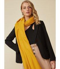 amaro feminino lenço básico, amarelo