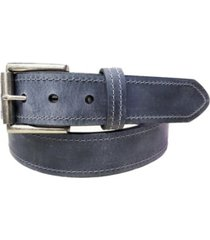 lejon men's tracker distressed crazy horse leather casual work jean belt