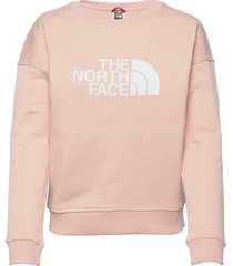 w drew peak crew-eu sweat-shirt trui roze the north face