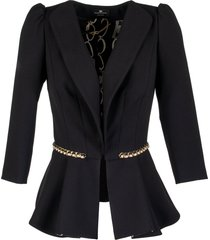 elisabetta franchi celyn b. jacket with chain insert