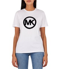 michael kors circle logo flock t-shirt white
