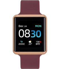 women's air 3 merlot silicone strap touchscreen smart watch 40mm