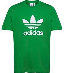 adicolor classics trefoil tee t-shirts short-sleeved grön adidas originals