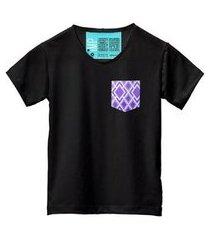 camiseta masculina algodão bolso estampa manga curta leve