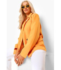 getailleerde oversized blazer met zak detail, orange