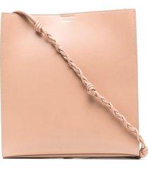 jil sander braided-strap shoulder bag - pink