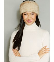 the fur vault knitted mink fur headband