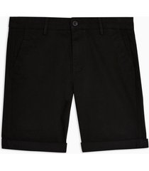 mens black chino skinny shorts