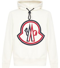 moncler logo cotton hoodie