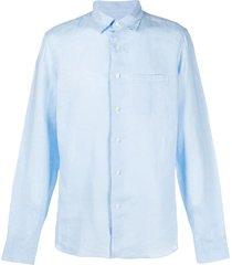 peninsula swimwear plain shirt - blue