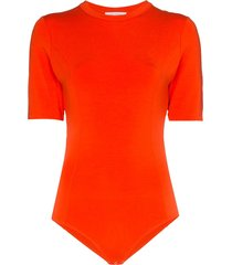 ninety percent open back bodysuit - orange