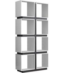 """monarch specialties 71"""" h bookcase"""