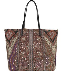 etro double-sided tote bag in nylon