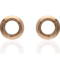 orecchini a lobo in ottone bronzato e glitter bronzo per donna
