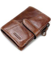 uomo vintage portafoglio in pelle vera con 8 card slots portacarte portamonete