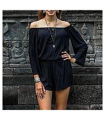 rayon off-shoulder romper, 'city diva' (indonesia)