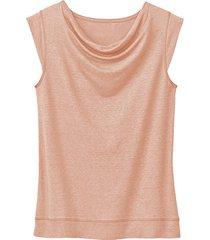 linnen jersey shirt, abrikoos 44/46