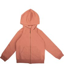 babe & tess sweatshirt with zip and pink hood