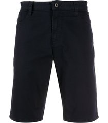 emporio armani denim bermuda shorts - blue