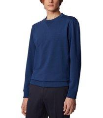 boss men's stadler 37 dark blue sweatshirt
