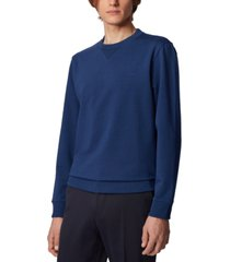 boss men's stadler 37 dark blue sweatshirt