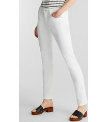 pantalón straight medium rise blanco esprit