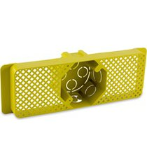 caixa de luz em polipropileno para lage 4x4 octogonal amarela