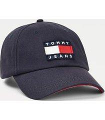 tommy hilfiger men's organic cotton heritage cap twilight navy -