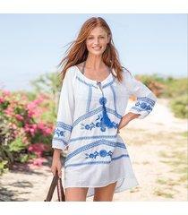 grecian blooms tunic