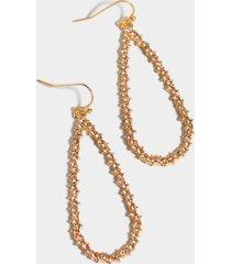 adina crystal teardrop earrings - crystal
